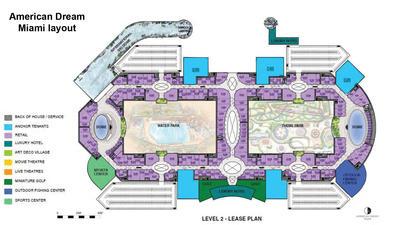American Dream Miami floor plan - Level 2