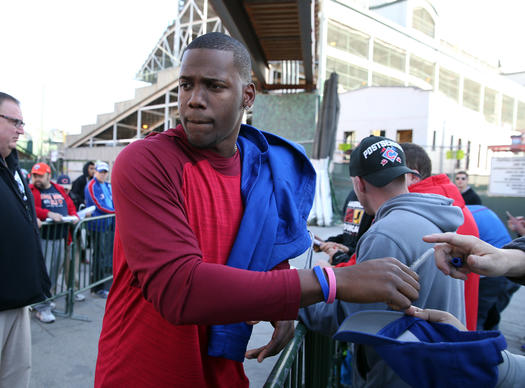 <p>After getting swept in the NLCS by the Mets, Cubs players, including Jorge Soler, stop by Wrigley Field to say their goodbyes for the season, pick up personal items, and sign a few autographs. </p>