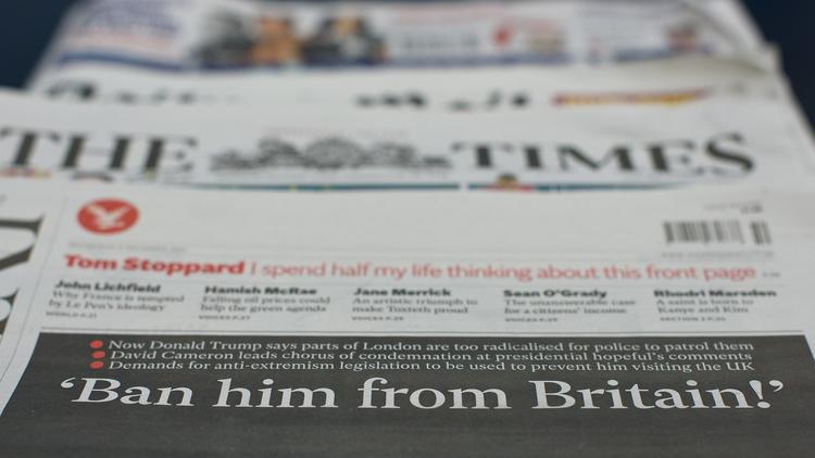 British newspapers on Donald Trump