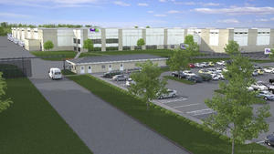 Rendering of FedEx facility at Tradepoint