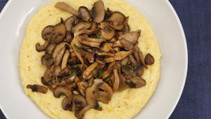 Union's creamy polenta with mushrooms
