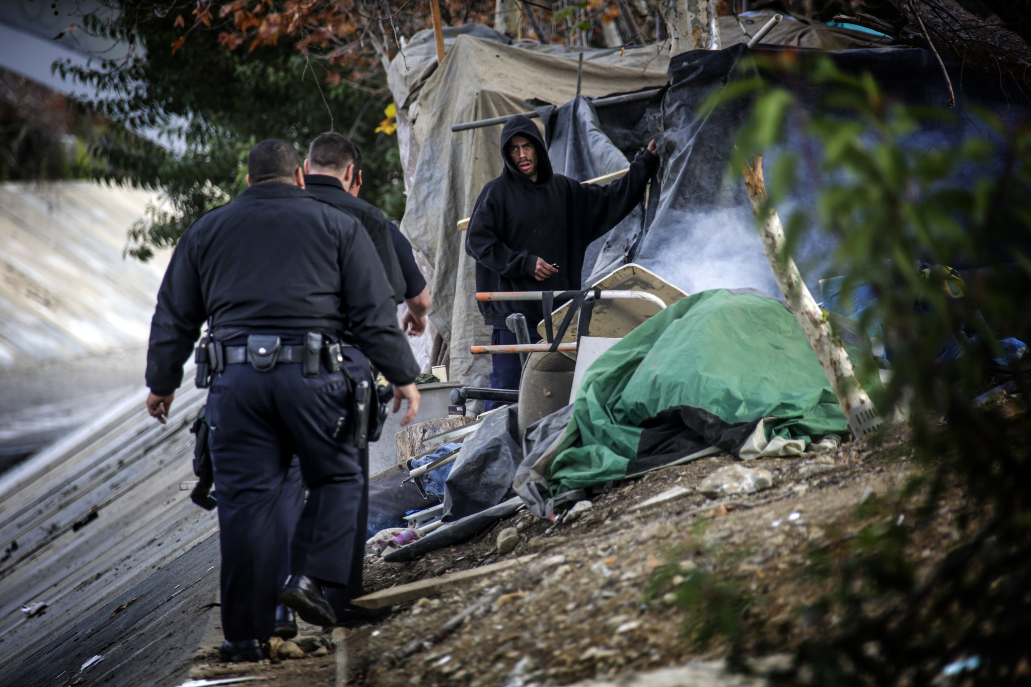 What l a can learn from a portland homeless encampment for Los angeles homeless shelter