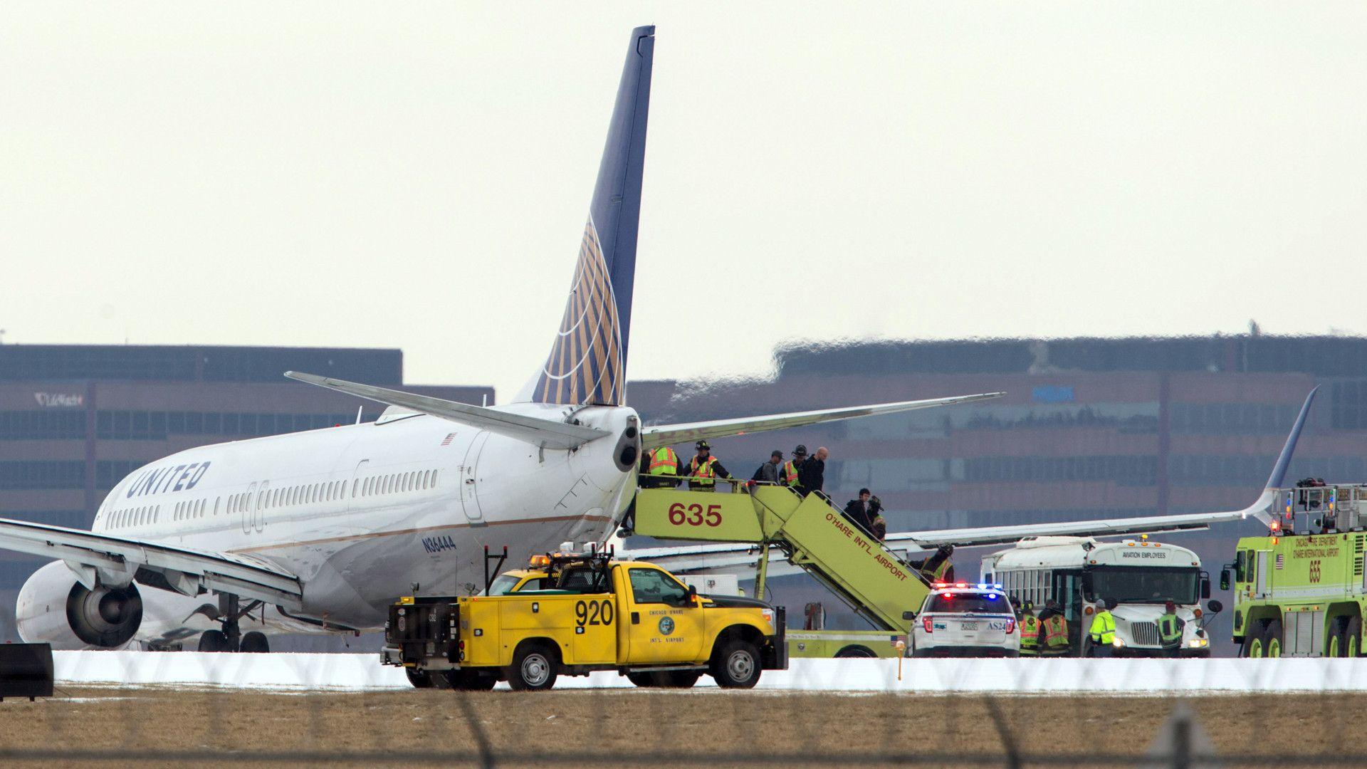 No injuries reported when plane slides off runway after landing at o hare chicago tribune