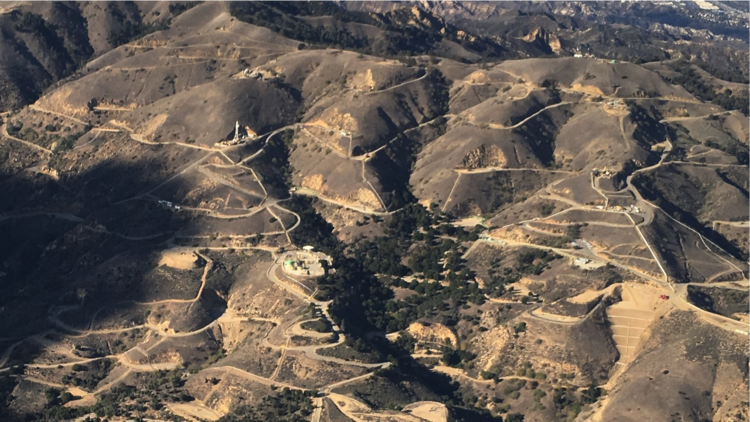 Aerial survey of the Aliso Canyon gas leak