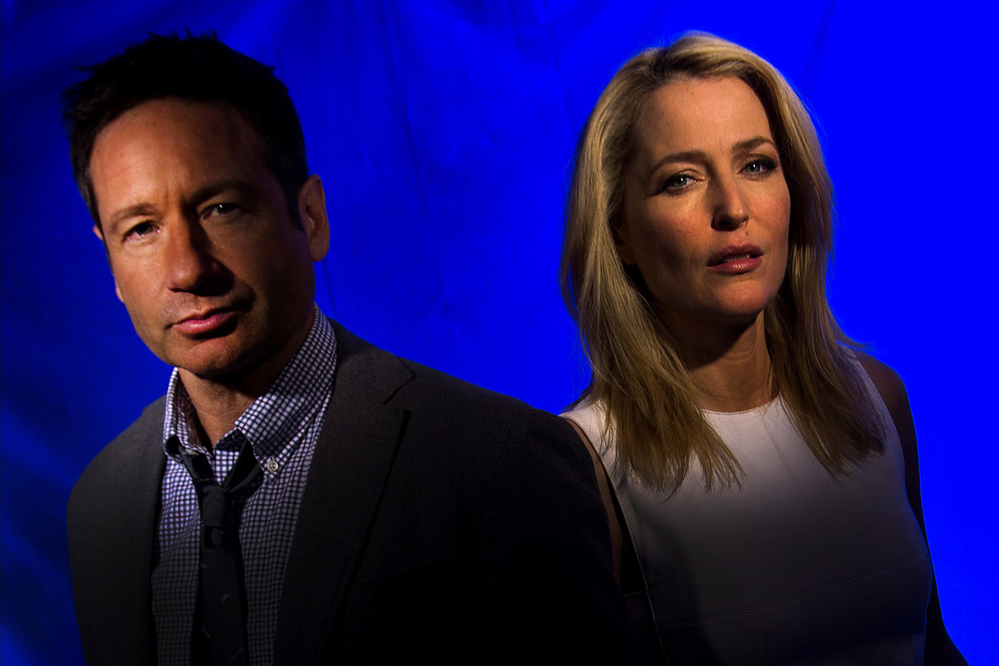 """David Duchovny and Gillian Anderson have returned for """"The X-Files."""" (Kirk McKoy / Los Angeles Times)"""