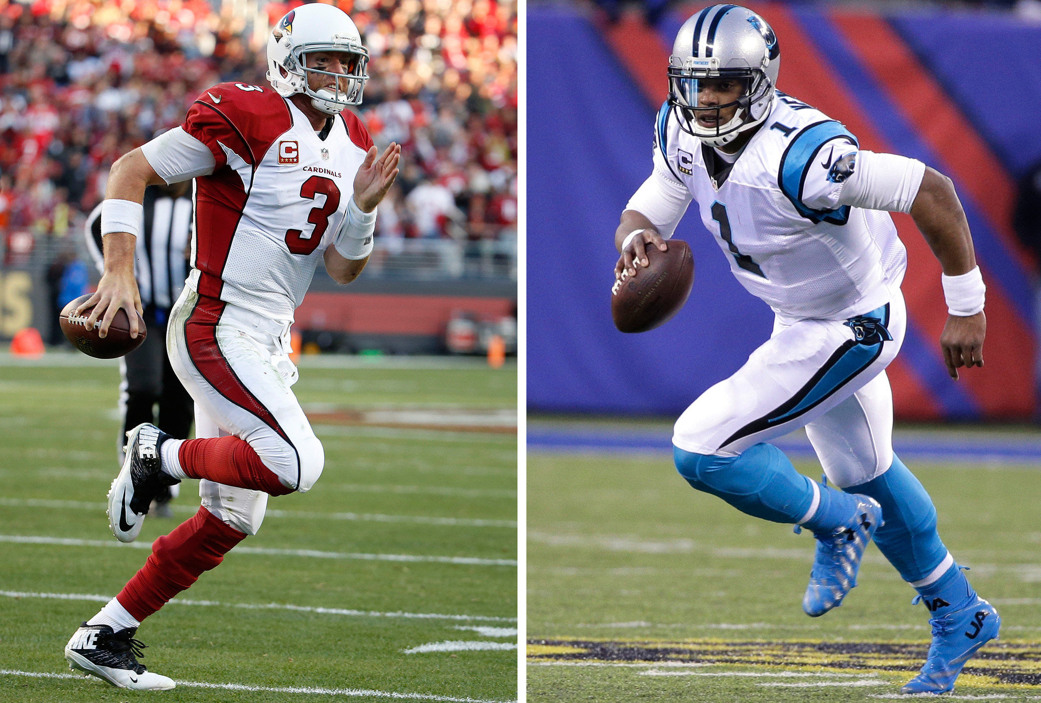 39f826e5dff Cam Newton and Carson Palmer have several things in common. NFC quarterbacks