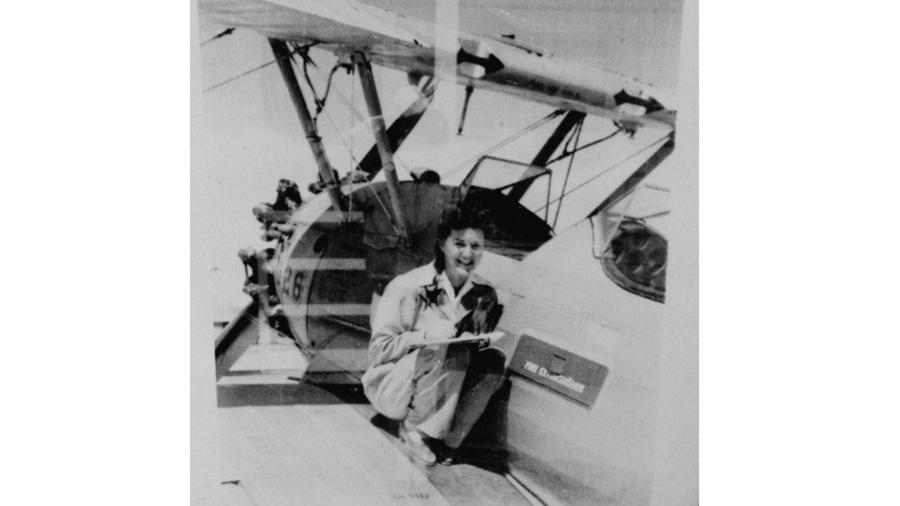 Elaine Harmon flew for the Women Airforce Service Pilots during World War II. Her death inspired legislation that would allow her fellow pilots to be buried at Arlington National Cemetery. (Harmon family)