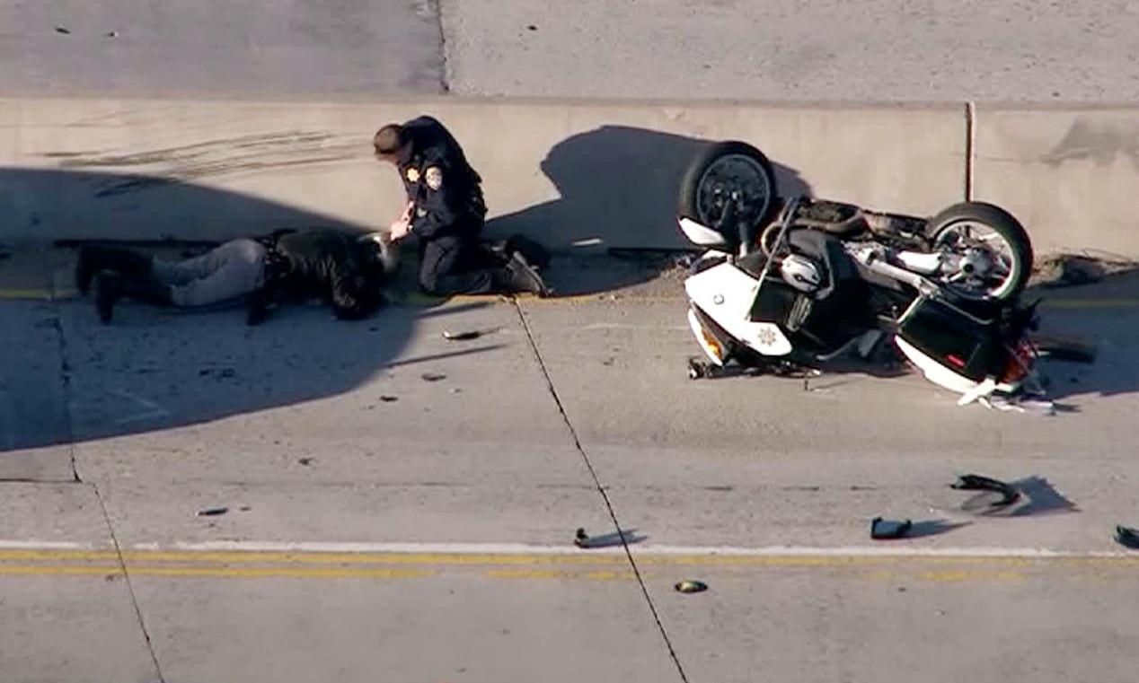 chp officer injured in northbound 170 freeway crash 4 lanes