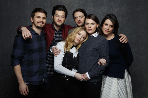 "Jason Ritter, left, Ben Schwartz, Natasha Lyonne, Vincent Piazza, Clea DuVall and Melanie Lynskey of ""The Intervention."" (Jay Clendenin / Los Angeles Times)"