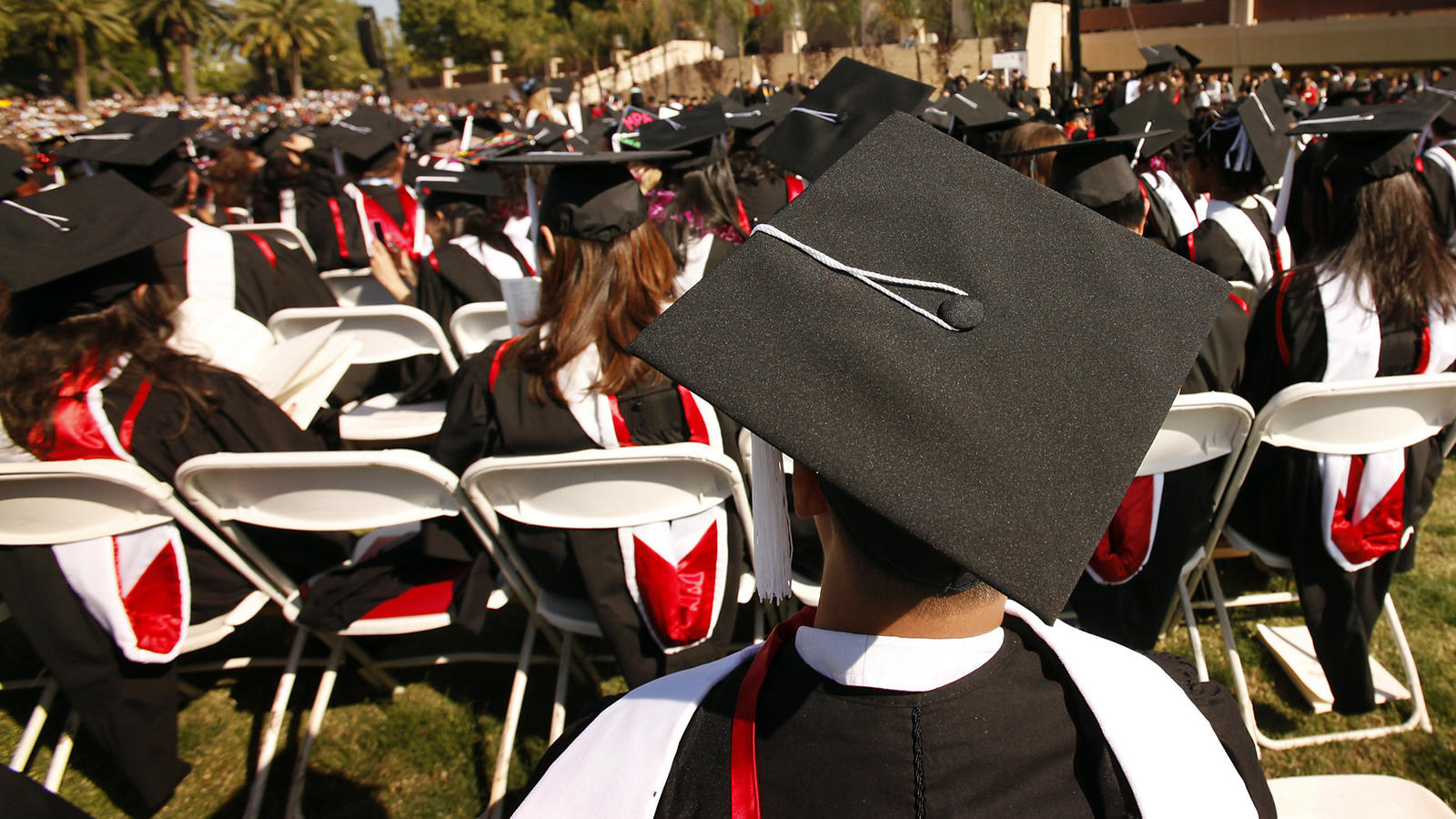 Commencement ceremonies at Cal State Northridge. (Al Seib / Los Angeles Times)