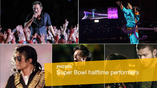 Super Bowl halftime performers through the years