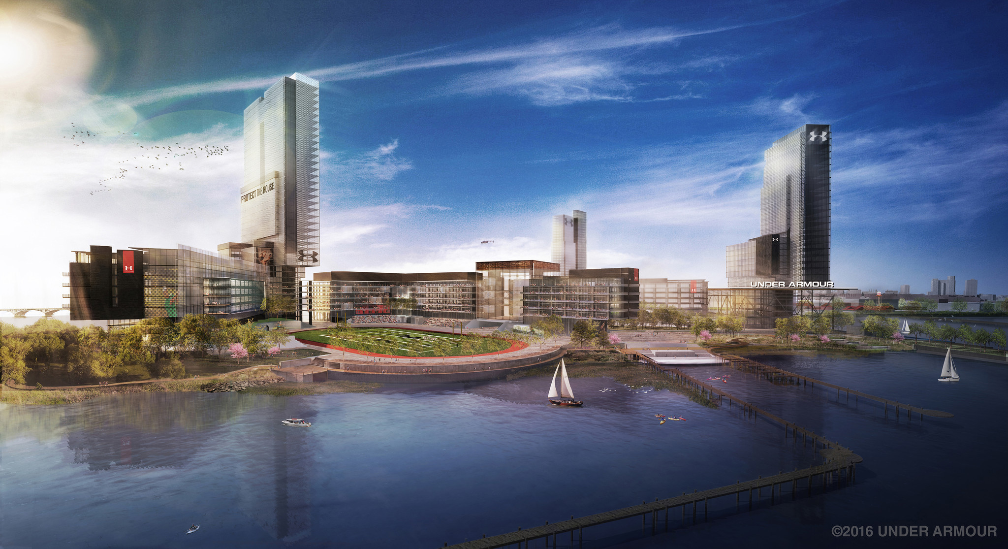 Under armour unveils plans for new port covington headquarters under armour unveils plans for new port covington headquarters baltimore sun malvernweather Image collections