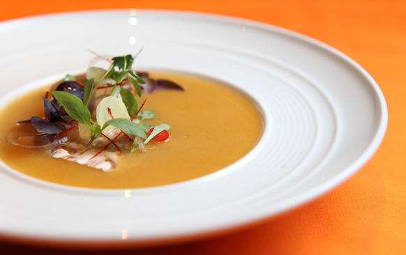 <p>The tom yum soup at Next restaurant, Wednesday Aug. 17, 2011.</p>