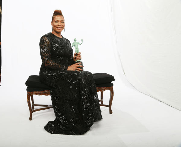 Queen Latifah, in The Times' backstage photo booth (Kirk McKoy / Los Angeles Times)