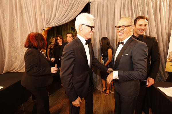 """Spotlight"" cast members John Slattery, left, and Michael Keaton, right. None"