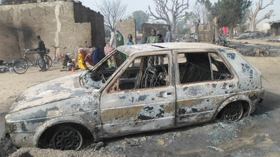 Nigerian Boko Haram extremists burn homes with villagers still inside
