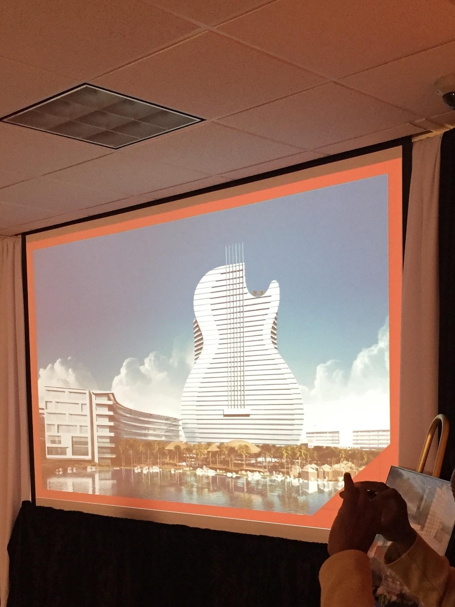 seminoles unveil plans for guitar-shaped hotel, expansion - sun