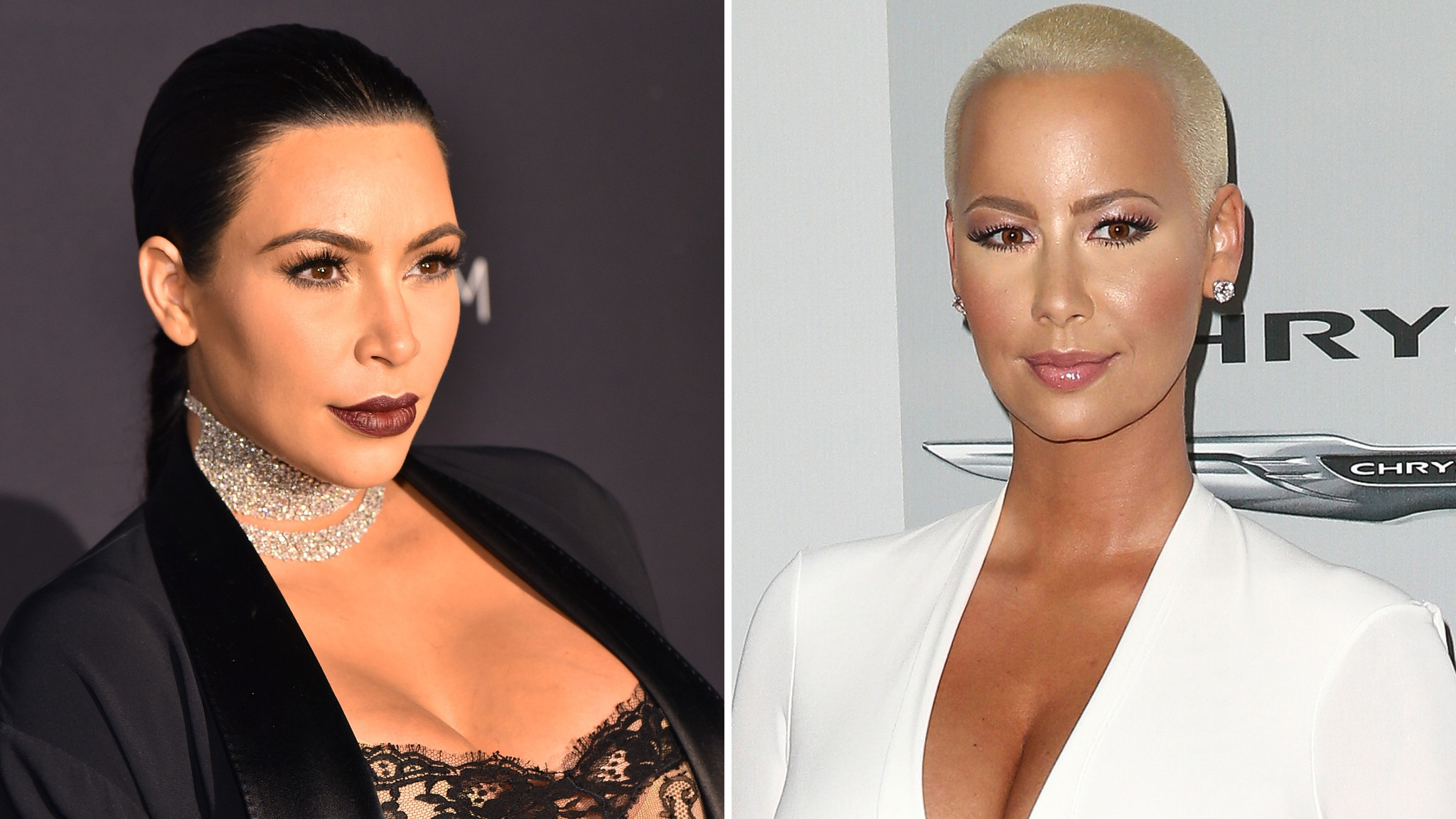 kim kardashian amber rose make nice in selfie after kanye