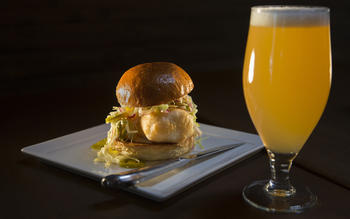 Eagle Rock Public House's fried cod sandwich