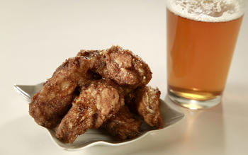 Stout beer and mustard wings