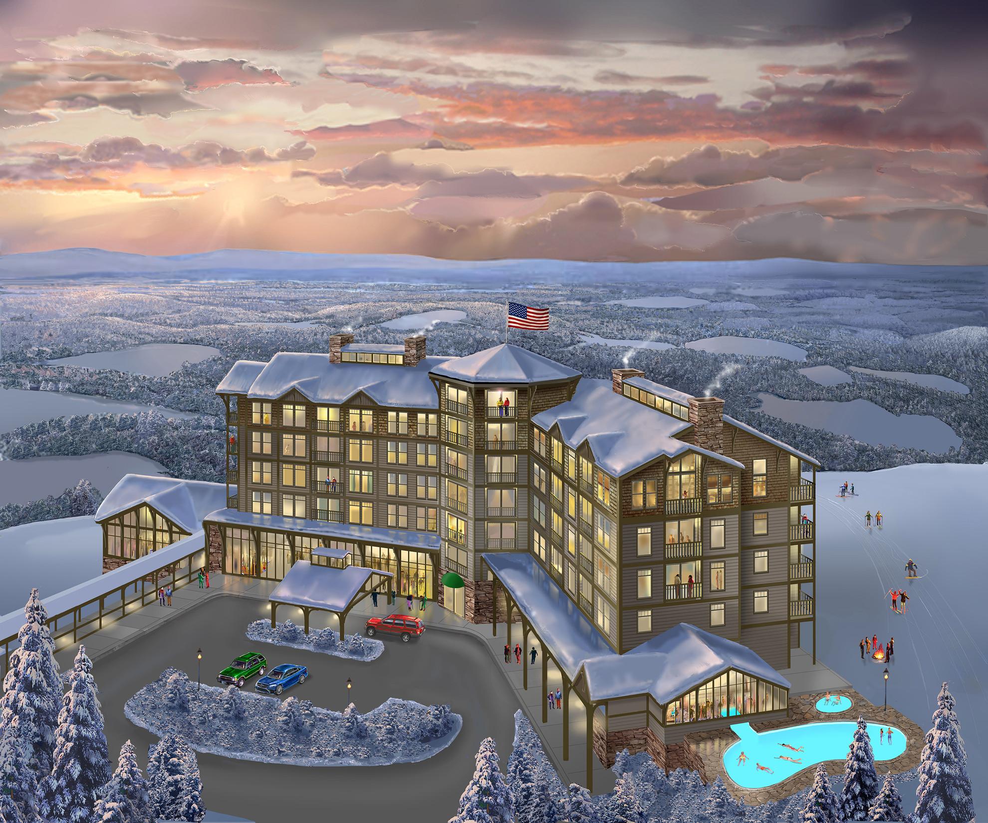 Blue mountain plans 4 star condominium resort hotel for Mt vista cabina e motel