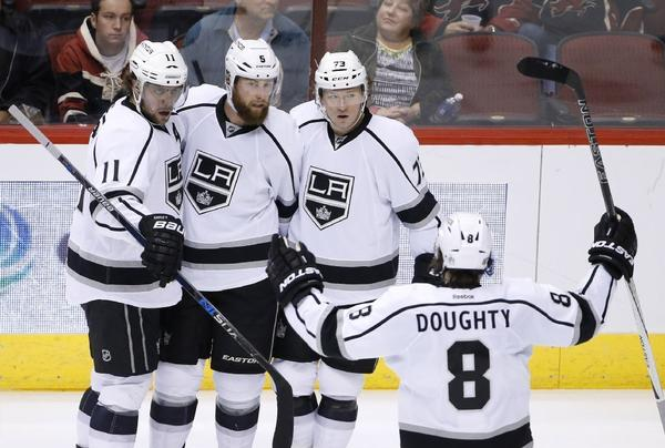 Dustin Brown's Two Goals Lead Kings Past Coyotes, 6-2