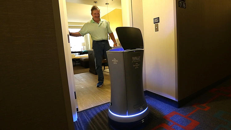 Wally World | Hotel uses a robot named Wally to deliver goods to guest