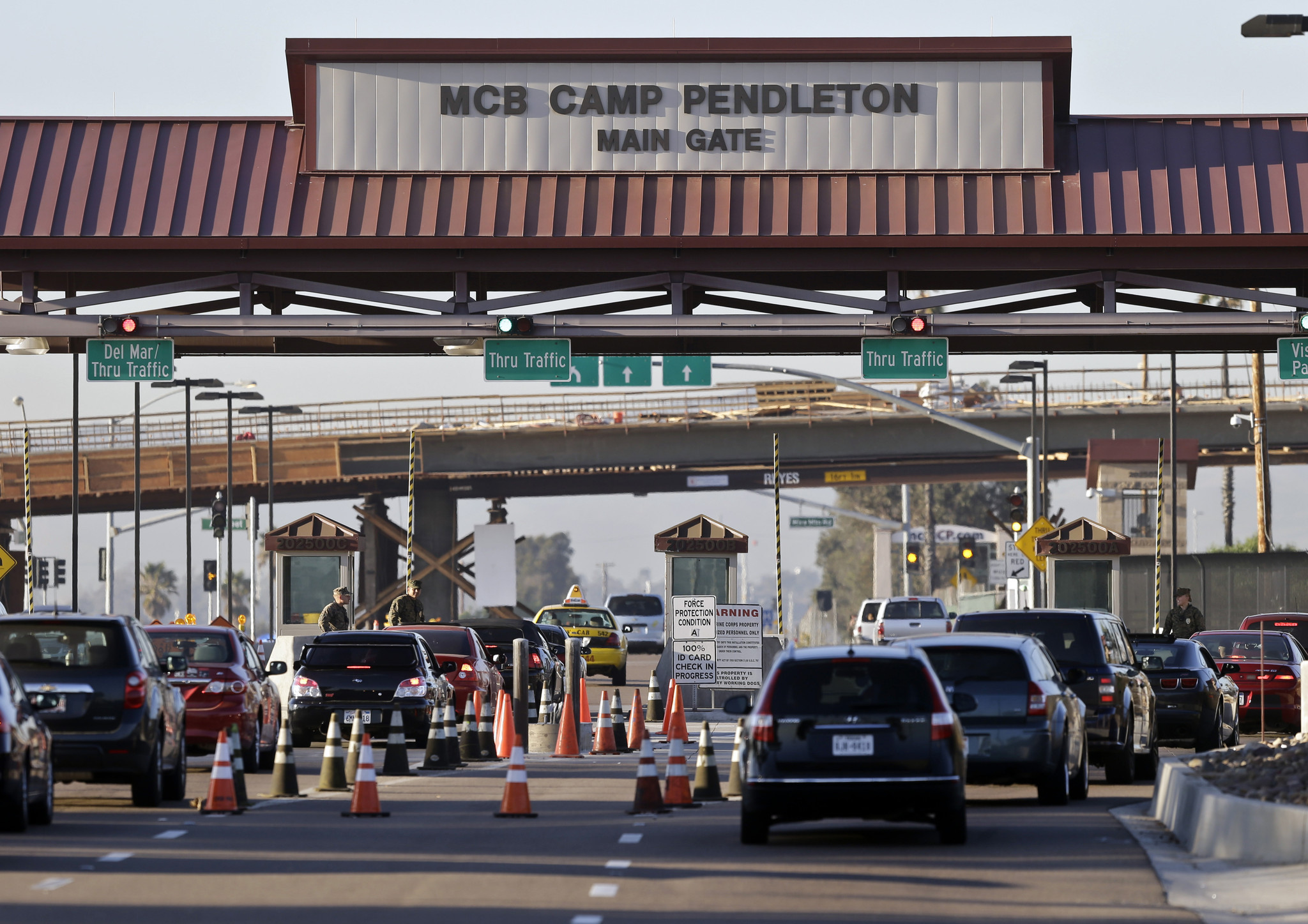 camp pendleton tightens security  limiting visitor access