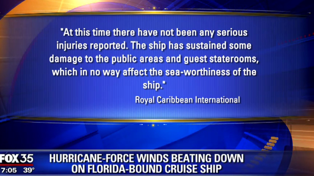 Royal Caribbean Cruise Ship Hit By Storm Orlando Sentinel - Can you text from a cruise ship