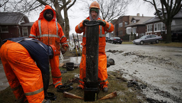 New water mains in Chicago