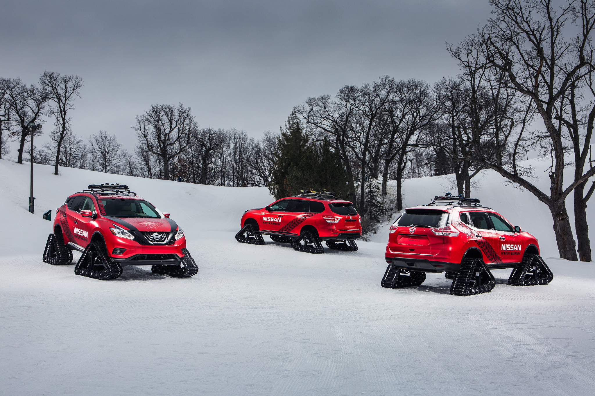 Nissan s snow tracked crossovers to carve up chicago auto show chicago tribune
