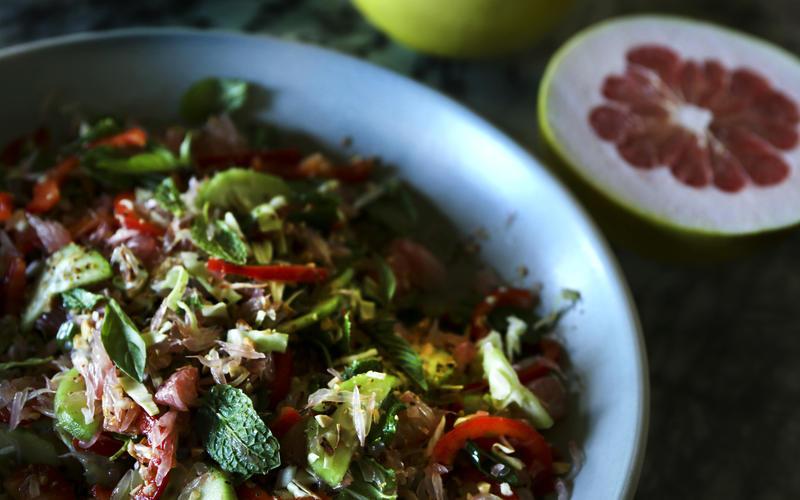 Cambodian pomelo salad