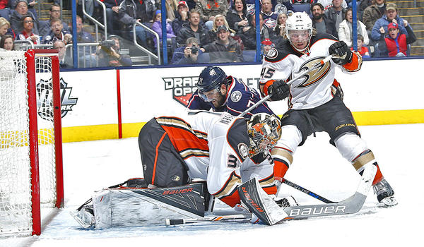 Ducks Blow Two-goal Lead And Lose To Columbus, 4-3, In Shootout