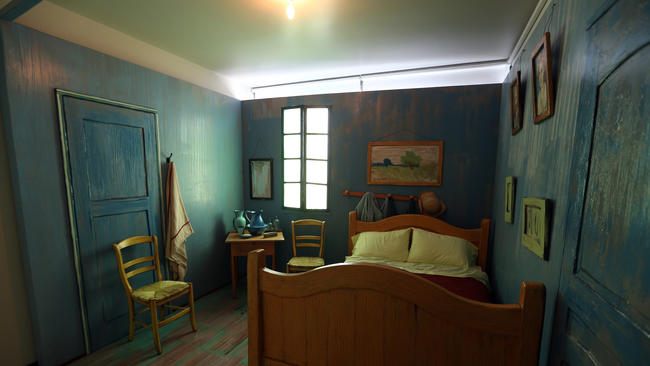 No Starry Night But A Comfy Double Bed In Van Gogh S Bedroom In