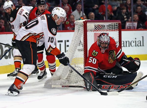 Ducks Upset Blackhawks, 3-2, In Overtime