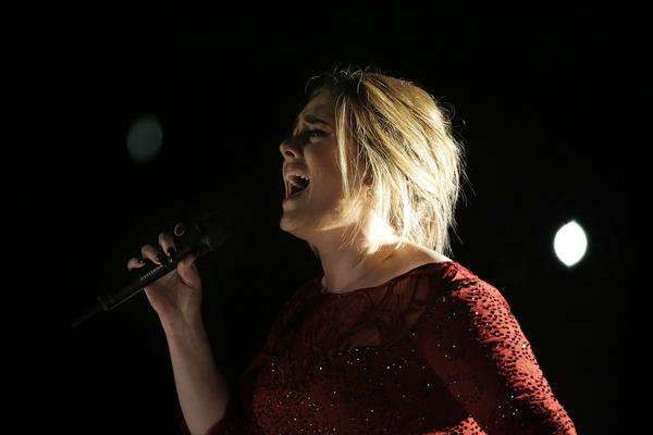 Adele's performance at the 58th Annual Grammy Awards was troubled. (Robert Gauthier / Los Angeles Times)