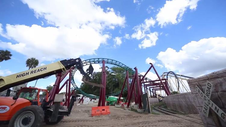 Cobra's Curse construction update at Busch Gardens