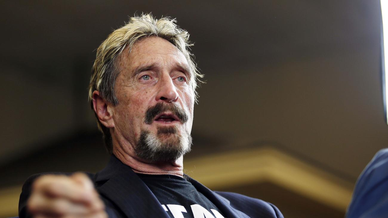 Antivirus software developer John McAfee is shown in Opelika, Ala., in 2015.