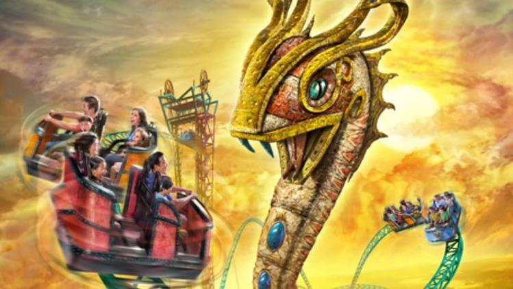 Cobra's Curse spinning ride vehicle