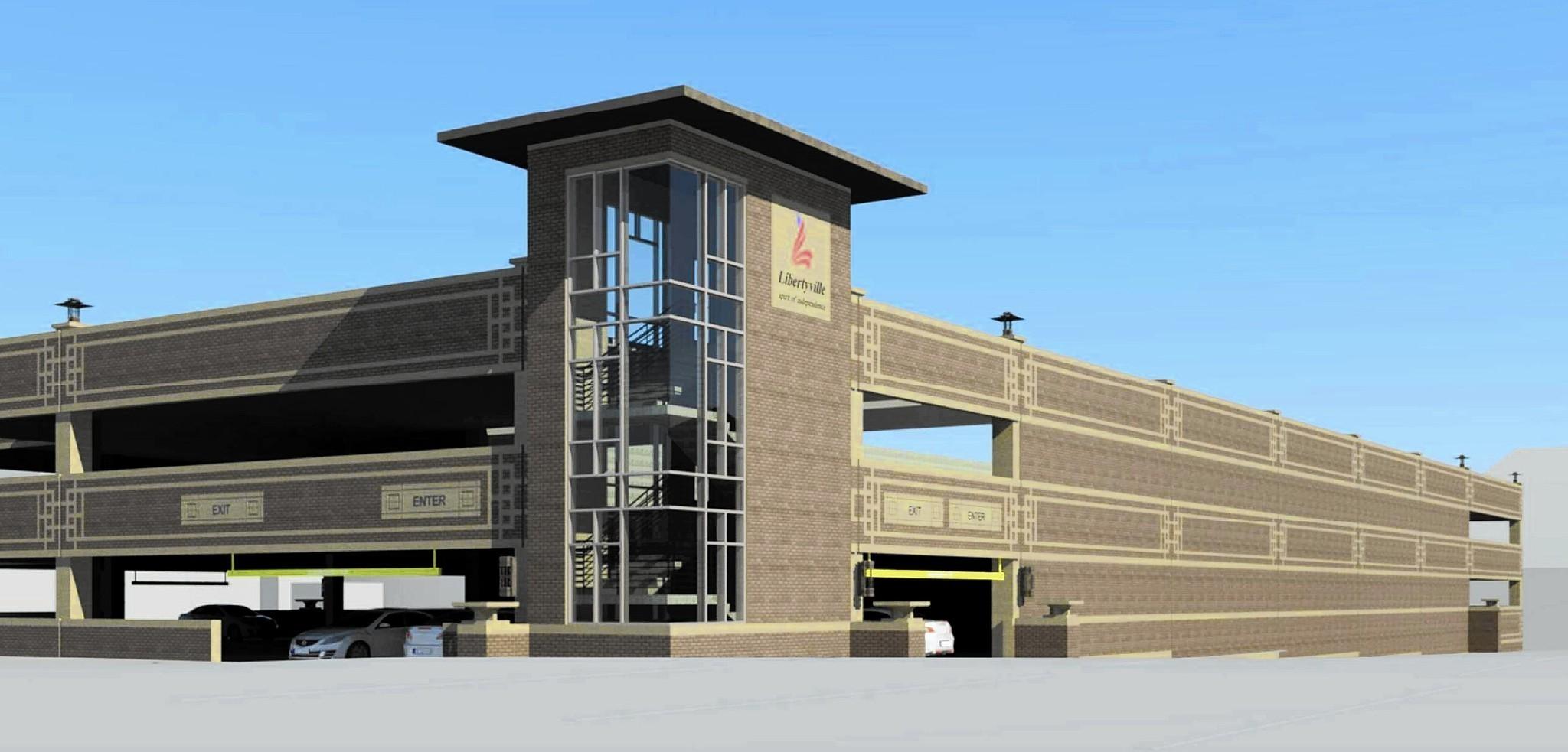 new libertyville parking garage to lose 30 spots start