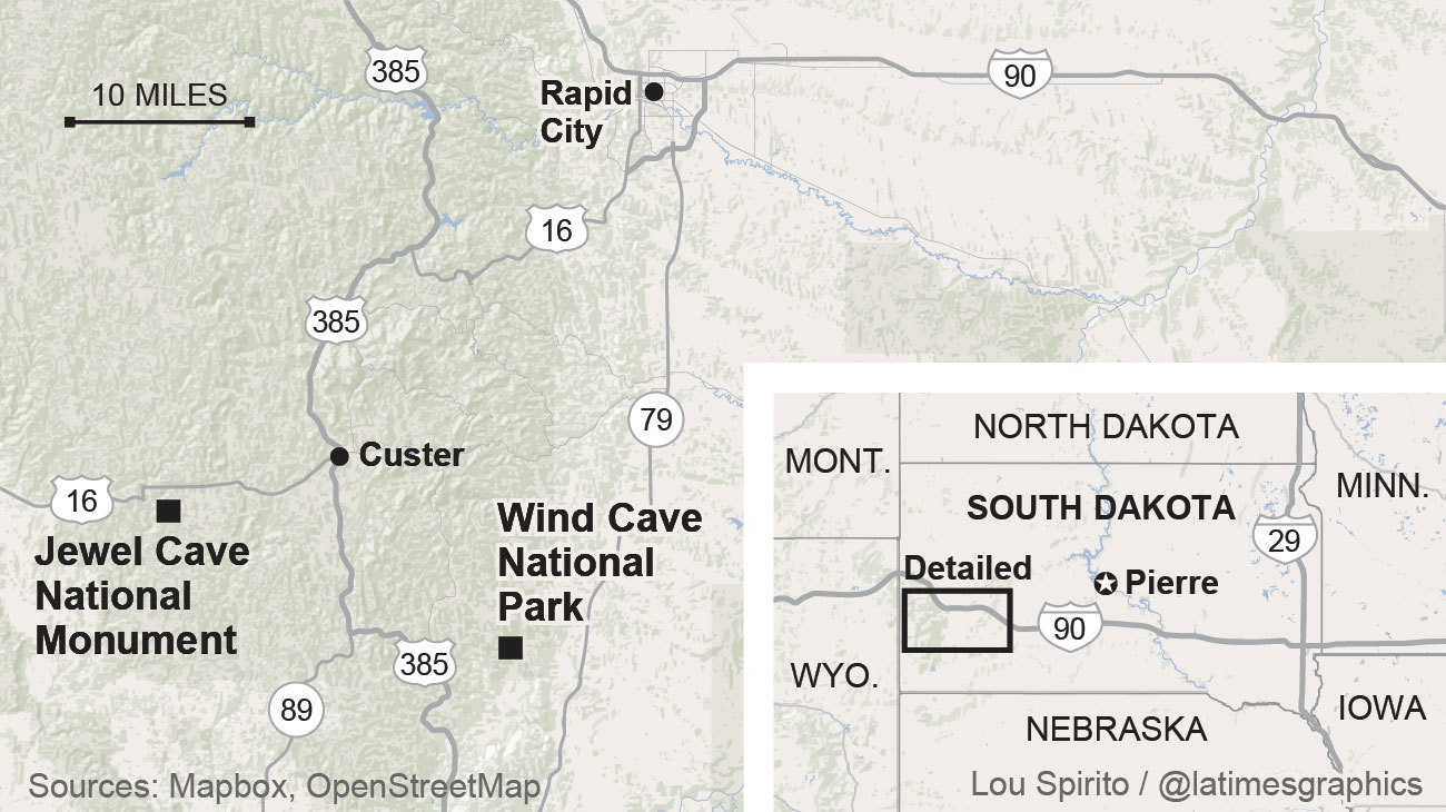 When You Explore Jewel Cave And Wind Cave In South Dakota - Us caves map