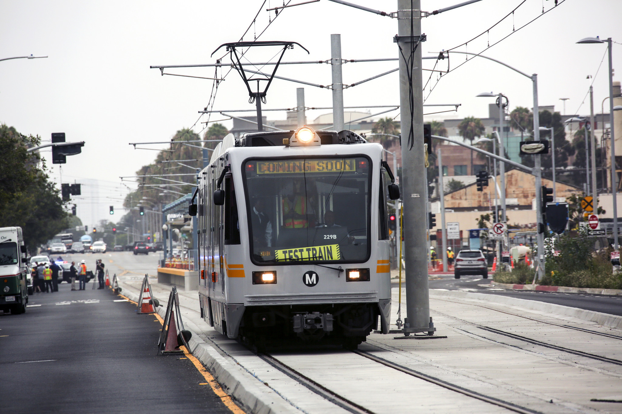 Passengers will be able to ride a train to Santa Monica for the first ...