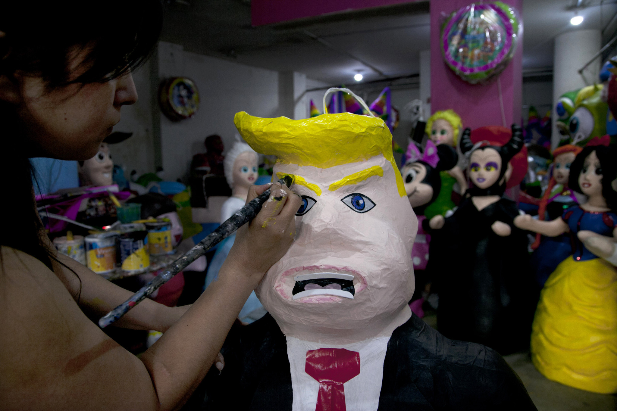 in mexico trump takes a beating and not just the piñatas la