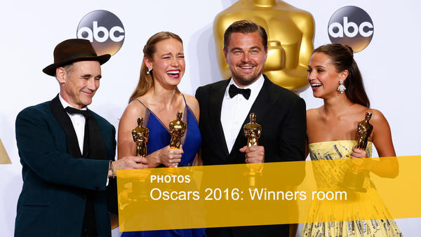 Oscars 2016: Winners' room