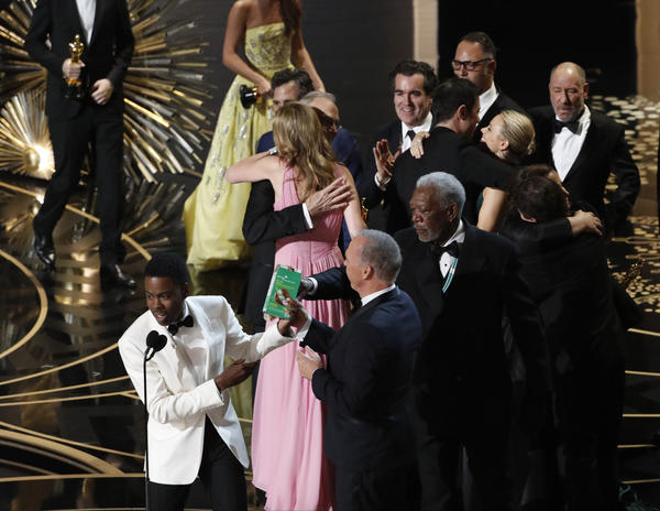Chris Rock during the telecast of the 88th Academy Awards. (Robert Gauthier / Los Angeles Times)