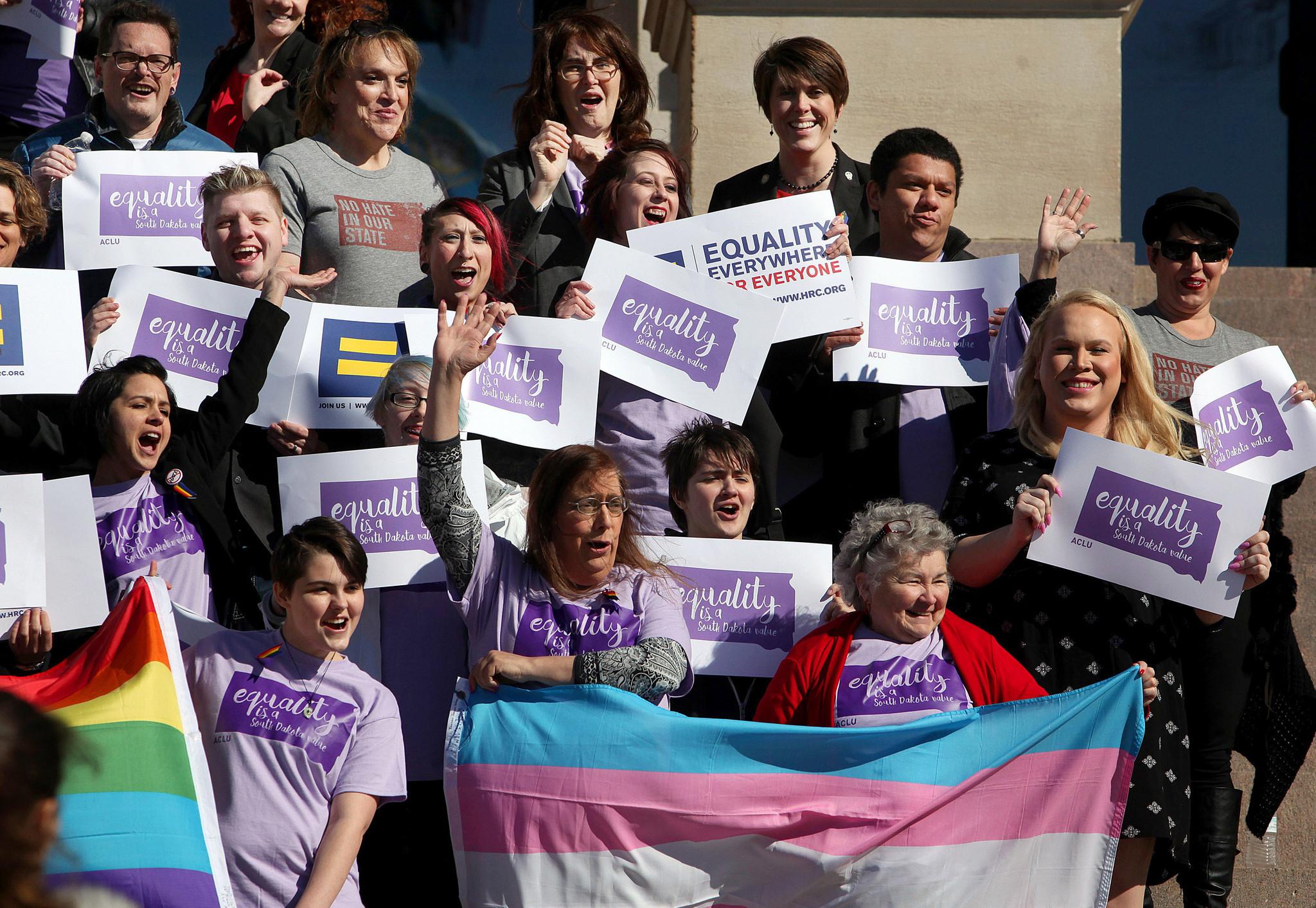 South Dakota governor vetoes transgender bathroom bill saying it