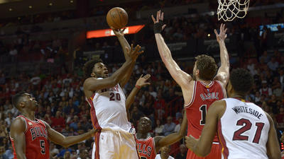 Photos: Heat 129, Bulls 111