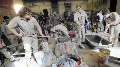 Carroll County Career & Tech students learn to construct oyster reefs
