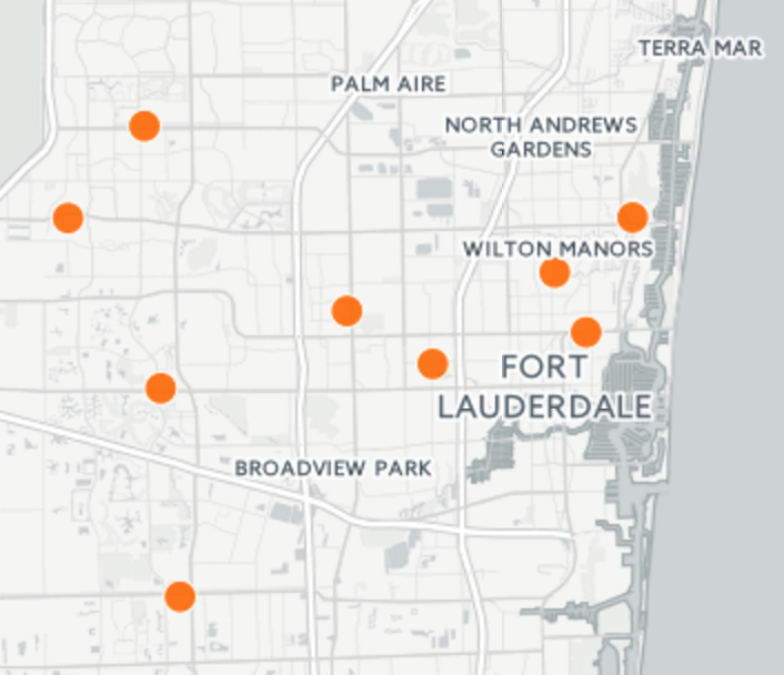 Map: Early voting locations for the 2016 Florida primary ...