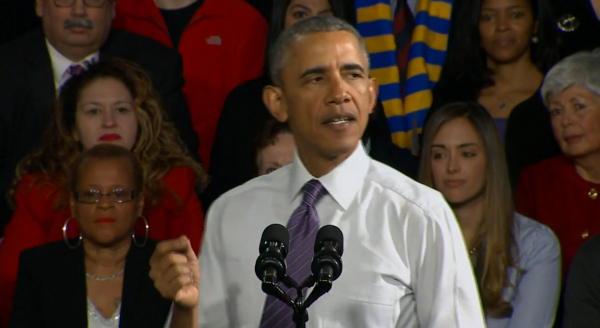 Obama cites gains in health coverage during Milwaukee visit